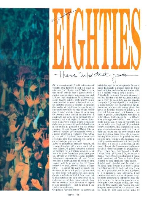 Goodbye Eighties - These Important Years 2