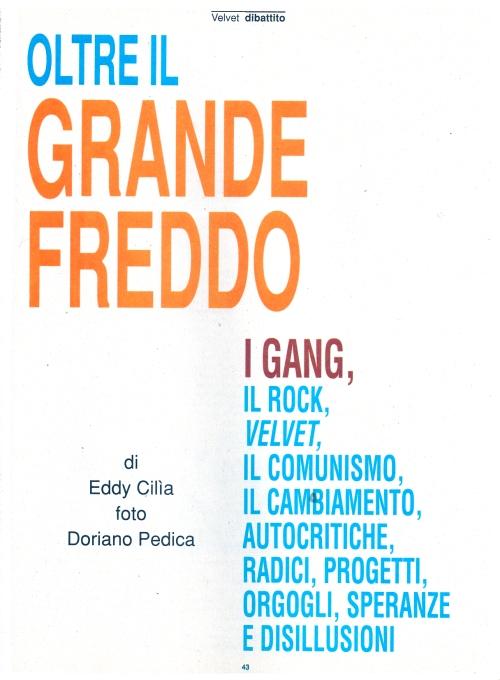 Gang - Oltre il grande freddo 2