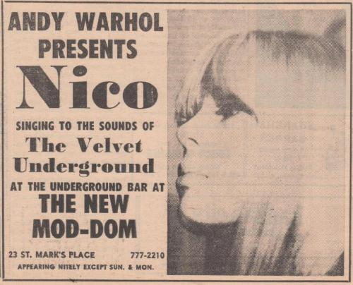 Andy Warhol Presents Nico