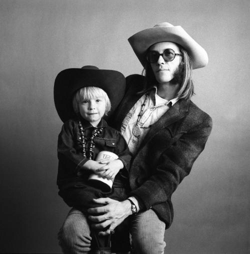 Con il figlio Shawn