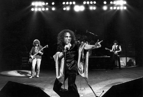 Ronnie James Dio con i Black Sabbath