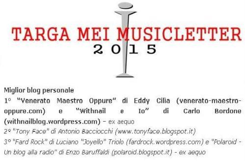 Targa Mei Musicletter 2015